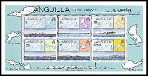 Anguilla 336a, MNH, Anguilla's Outer Islands souvenir sheet