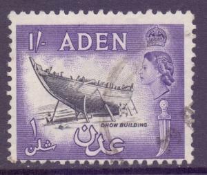 Aden Scott 55a - SG63, 1954 Elizabeth II 1/- used