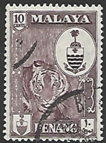Malaya Penang #61 Used Single Stamp