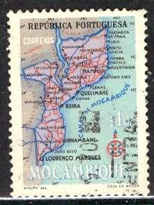 Mozambique; 1954: Sc. # 387: O/Used Single Stamp