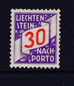 Liechtenstein  a 30r Post Due MH from 1928