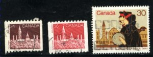 Can #952-54   -3  used VF 1982 PD