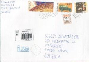 SLOVAKIA 2013 CEPT EUROPA COVER TO ARTSAKH KARABAKH ARMENIA R2021559