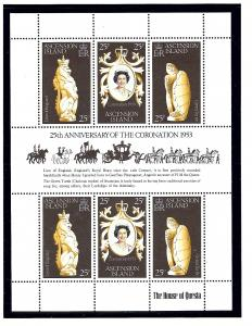 Ascension 229 MNH 1978 QEII Silver Jubilee sheet