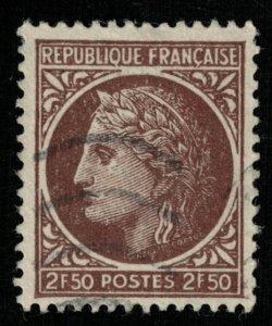 1945-1946 Ceres, France, 2.50Fr, SC #538 (Т-7630)