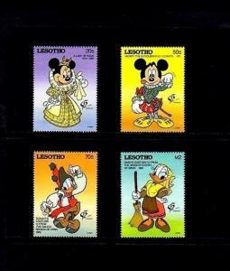 LESOTHO - 1992 - DISNEY - MICKEY - MINNIE ++ SPANISH COSTUMES - MINT - MNH SET!