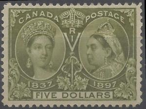 Canada Mint XF-H #65 -- $5 JUBILEE C$2000.00