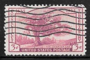 USA 772: 3c The Charter Oak, used, F-VF