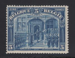 Belgium Sc 121 MLH. 1915 5fr King Albert I at Furnes, F-VF