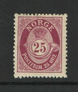 Norway SC# 87, Mint Hinged, Hinge Remnant, gum crease and minor bending - S9386