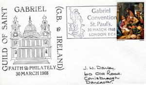Great Britain 1968 Guild of St.Gabriel Faith & Philately Special Cancellation