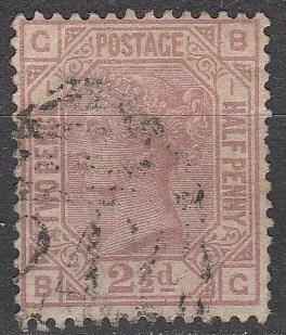 Great Britain  #66  Plate 1   F-VF Used CV $90.00  (A8614)