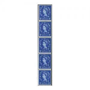 S17Var 1d Coil Strip Wmk Crowns White Paper White Dot on Revenue U/M