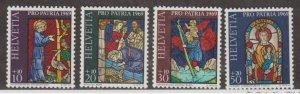 Switzerland Scott #B382-B385 Stamps - Mint NH Set