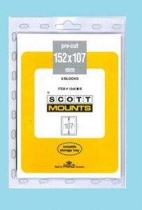 Scott Mounts Black, 157/107, 8 pre-cut mounts  (01048B)*