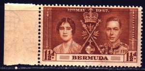 Bermuda. 1937. 99 of the series. English king and queen. MNH.