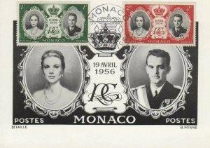 MONACO 366-367 ROYAL WEDDING - Pechitch post card