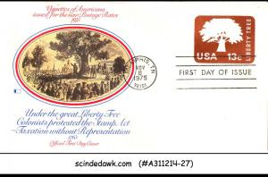 UNITED STATES USA - 1975 LIBERTY TREE / AMERICAN ISSUE - FDC
