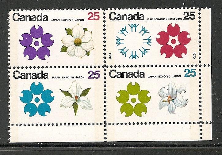 Canada 1970  Expo-70 Blank corner block tagged mnh  SC 511b