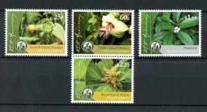 Norfolk Island 2011 MNH National Park 4v Set Hibiscus Flowers Plants Stamps