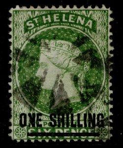 ST. HELENA QV SG30, 1s yellow-green, USED. Cat £12. WMk CC