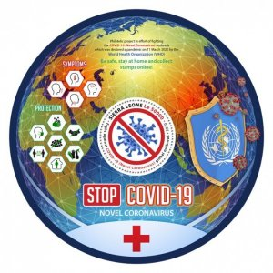 SIERRA LEONE - 2020 - Stop COVID-19 -Perf Souv Sheet - Mint Never Hinged
