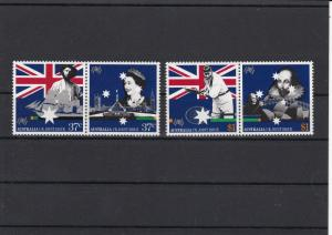 Australia Mint Never Hinged Stamps Cricket, shakespeare etc ref R 16357