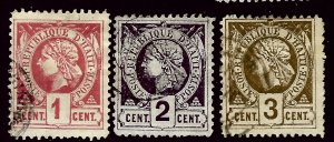 Haiti SC#7-9 Used F-VF hr...A World of Stamps!