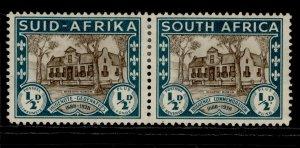 SOUTH AFRICA GVI SG82, ½d + ½d brown & green, M MINT.