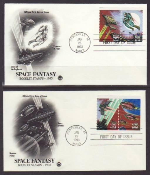 US 2741-2745 Space Fantasy 1993 PCS S/3 FDC