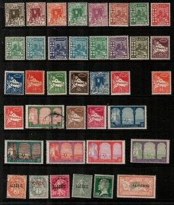 Algeria- small early collection mostly mint, some NH - Catalog Value $70.50