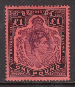 Bermuda #121b (SG #128v) Very Fine Mint Lightly Hinged