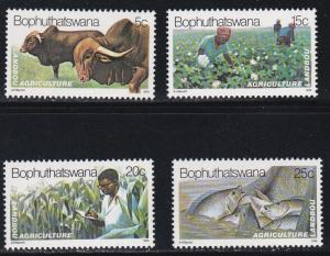 Bophuthatswana # 51-54, Agriculture, NH, 1/2 Cat.