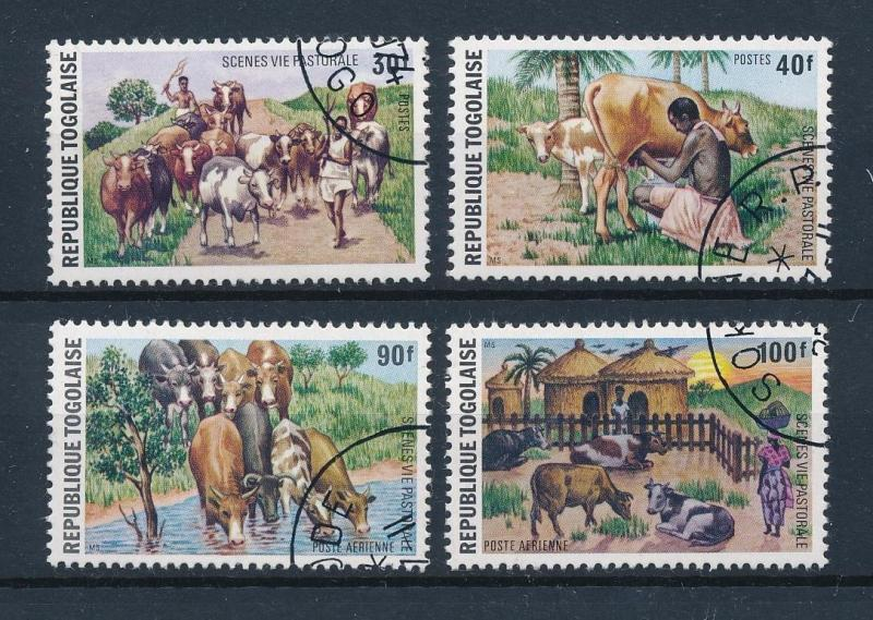 [60287] Togo 1974 Animals Cows Milking Used CTO