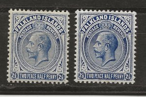 Falkland Is 33, 33c SG 63, 63a MLH VF 1912 SCV $35.00 (jr)
