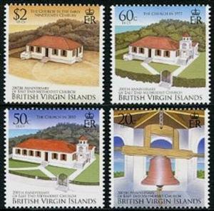 HERRICKSTAMP VIRGIN ISLANDS Sc.# 1132-35 Methodist Church