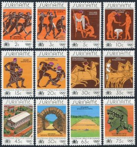 Surinam 675-686,686a sheet,MNH.Michel 1082-1093,Bl.37. Olympics Los Angeles-1984