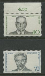 Germany -Scott 1159-1160 - General Issue.-1975 - MNH -Set of 2 Stamps
