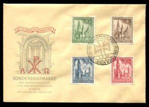 Berlin #9NB8-9NB11 FDC CV€400.00 Kaiser Wilhelm Memorial [CV$164 Stamps]