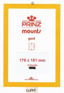 PRINZ CLEAR MOUNTS 178X181 (4) RETAIL PRICE $10.50