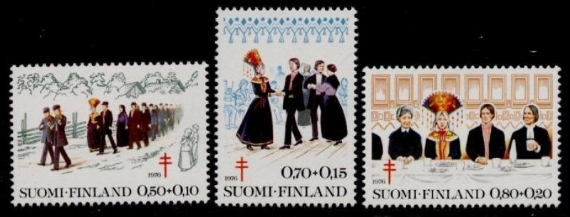 Finland B207-9 MNH Wedding Procession, Costumes