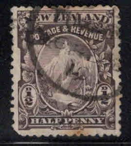 New Zealand Scott 70 Used 1898 Gray Lilac colored stamp