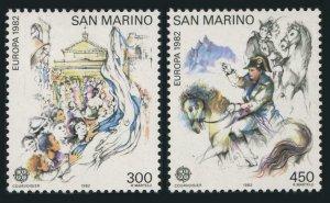 San Marino 1019-1020, hinged. Mi 1249-1250. EUROPE CEPT-1982. Napoleon's Treaty.