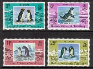 BRITISH ANTARCTIC 1979 Penguins; Scott 72-75, SG 89-92; MNH