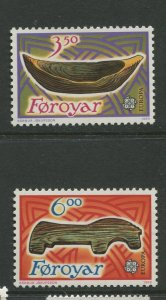 STAMP STATION PERTH Faroe Is.#191-192 Pictorial Definitive Iss. MNH 1989 CV$4.00