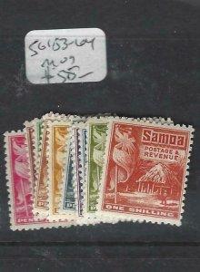 SAMOA (P2805B)  HUTS   SG 153-164   MOG