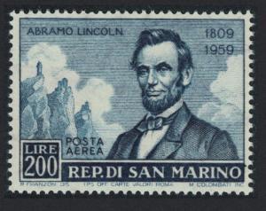 San Marino Abraham Lincoln's 150th Birth Anniversary 200L Key Value SG#581