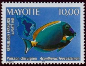 Mayotte 1999 #123 MNH. Fish