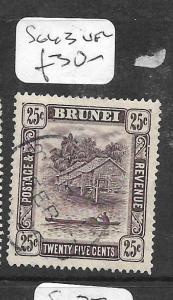BRUNEI (P0104B)  RIVER SCENE 25C  SG 43   VFU