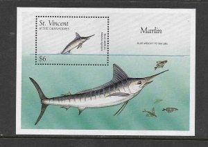 FISH - ST VINCENT #2336 MARLIN  MNH